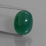 thumb image of 8.6ct Oval Cabochon Green Agate (ID: 445261)