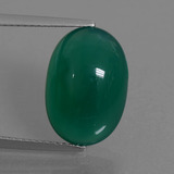 thumb image of 7.9ct Oval Cabochon Green Agate (ID: 445276)