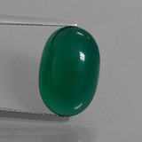 thumb image of 8.6ct Oval Cabochon Green Agate (ID: 445307)