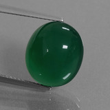 thumb image of 8.6ct Oval Cabochon Green Agate (ID: 445486)