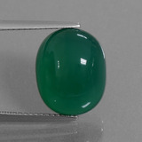 thumb image of 8.6ct Oval Cabochon Green Agate (ID: 445495)