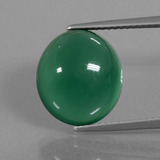 thumb image of 7.8ct Oval Cabochon Green Agate (ID: 445630)