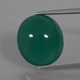 thumb image of 8.3ct Oval Cabochon Green Agate (ID: 445662)