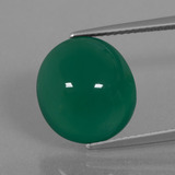 thumb image of 7.9ct Oval Cabochon Green Agate (ID: 445666)