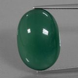 thumb image of 12.9ct Oval Cabochon Green Agate (ID: 445720)