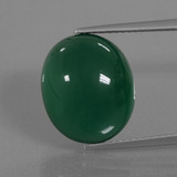 thumb image of 9.9ct Oval Cabochon Green Agate (ID: 445722)