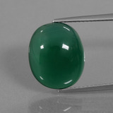 thumb image of 7.3ct Oval Cabochon Green Agate (ID: 445723)