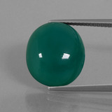 thumb image of 10.2ct Oval Cabochon Green Agate (ID: 445734)