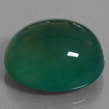 47.35 ct Oval Cabochon Green Agate Gem 24.68 mm x 21.4 mm (Photo B)