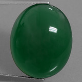 thumb image of 24.1ct Oval Cabochon Green Agate (ID: 456823)