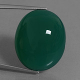 thumb image of 38.4ct Oval Cabochon Green Agate (ID: 456897)
