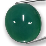 thumb image of 86.1ct Oval Cabochon Green Agate (ID: 457776)