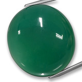 thumb image of 73.3ct Oval Cabochon Green Agate (ID: 457777)