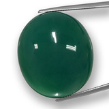 thumb image of 75.2ct Oval Cabochon Green Agate (ID: 457779)
