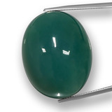 thumb image of 77.8ct Oval Cabochon Green Agate (ID: 457782)