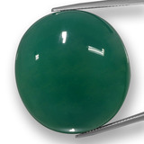 thumb image of 91.3ct Oval Cabochon Green Agate (ID: 457783)