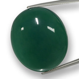thumb image of 66.5ct Oval Cabochon Green Agate (ID: 457787)