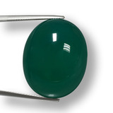 thumb image of 48.6ct Oval Cabochon Green Agate (ID: 457887)