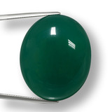 thumb image of 65.4ct Oval Cabochon Green Agate (ID: 457895)