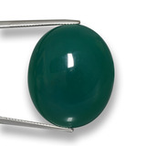 thumb image of 67.6ct Oval Cabochon Green Agate (ID: 458052)