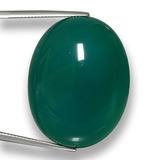 thumb image of 77.4ct Oval Cabochon Green Agate (ID: 458054)