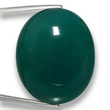 thumb image of 82.9ct Oval Cabochon Green Agate (ID: 458059)