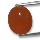 thumb image of 5.3ct Oval Cabochon Orange Agate (ID: 458146)