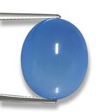 thumb image of 22.1ct Oval Cabochon Blue Agate (ID: 458186)