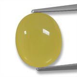 thumb image of 4.2ct Oval Cabochon Yellow Agate (ID: 458225)