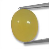 thumb image of 3.7ct Oval Cabochon Yellow Agate (ID: 458226)