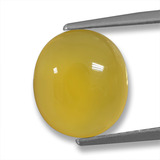 thumb image of 4.2ct Oval Cabochon Yellow Agate (ID: 458231)