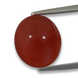 thumb image of 4.1ct Oval Cabochon Orange Agate (ID: 458252)