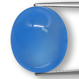 thumb image of 12.6ct Oval Cabochon Blue Agate (ID: 458275)