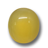 thumb image of 5.8ct Oval Cabochon Yellow Agate (ID: 458575)