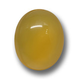 thumb image of 7.3ct Oval Cabochon Yellow Agate (ID: 458765)