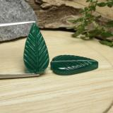 thumb image of 10.5ct Carved Leaf Green Agate (ID: 470938)