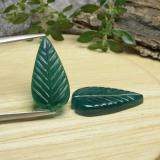 thumb image of 8.3ct Carved Leaf Green Agate (ID: 470939)