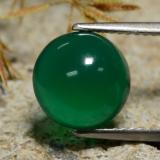 thumb image of 3.2ct Round Cabochon Green Agate (ID: 473253)