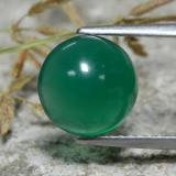 thumb image of 2.9ct Round Cabochon Green Agate (ID: 473572)