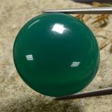 30.72 ct Round Cabochon Medium Dark Green Agate Gem 23.31 mm  (Photo B)