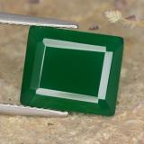 thumb image of 5.4ct Octagon Step Cut Green Agate (ID: 477913)