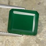 thumb image of 4.8ct Octagon Step Cut Green Agate (ID: 477940)