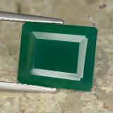 thumb image of 6ct Octagon Step Cut Green Agate (ID: 477941)