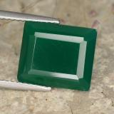 thumb image of 5.4ct Octagon Step Cut Green Agate (ID: 477942)