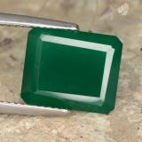thumb image of 5.3ct Octagon Step Cut Green Agate (ID: 477951)