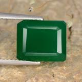 thumb image of 4.5ct Octagon Step Cut Green Agate (ID: 478080)