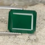 thumb image of 6.4ct Octagon Step Cut Green Agate (ID: 478121)