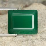 thumb image of 6.3ct Octagon Step Cut Green Agate (ID: 478128)