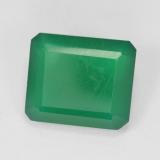 thumb image of 5.3ct Octagon Step Cut Green Agate (ID: 478130)