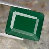 thumb image of 4.2ct Octagon Step Cut Green Agate (ID: 478253)